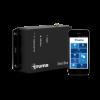 Truma iNet Box beside smartphone with the english Truma App