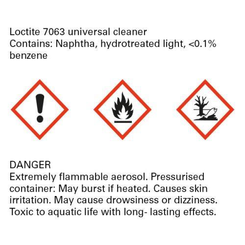 SolarSet glue warning label