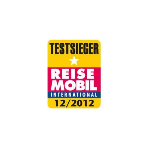 Reisemobil International test winner logo