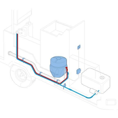 Truma Boiler Elektro installation overview