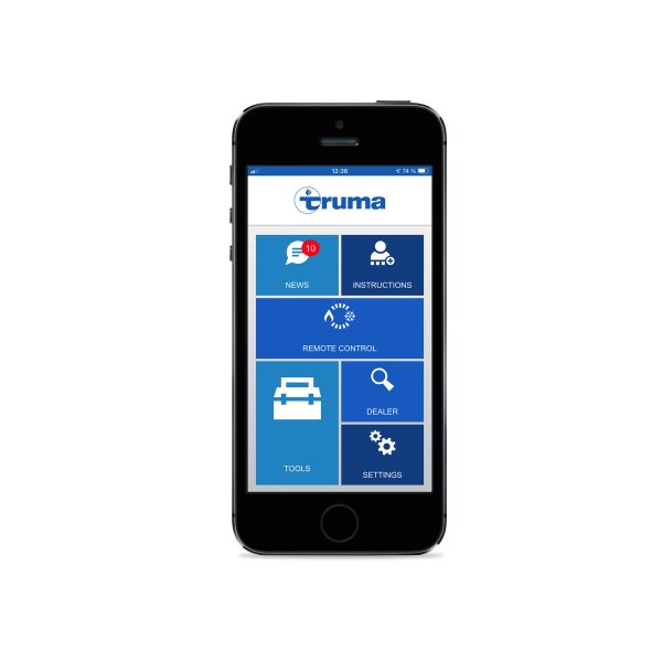 Truma App english Startscreen