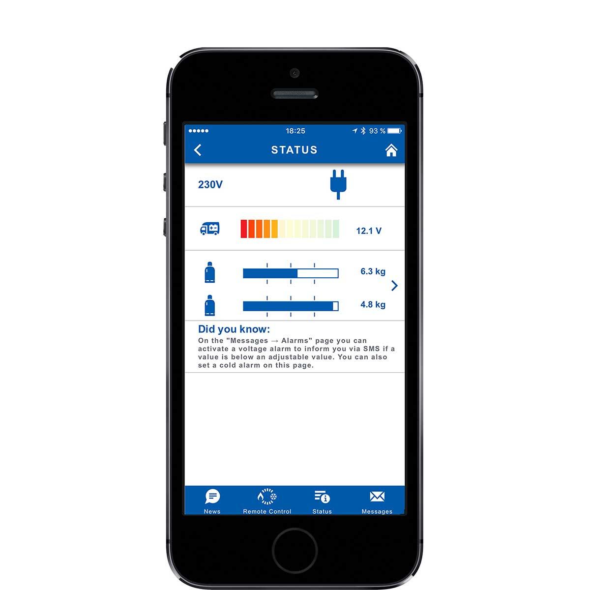 Truma App LevelControl status