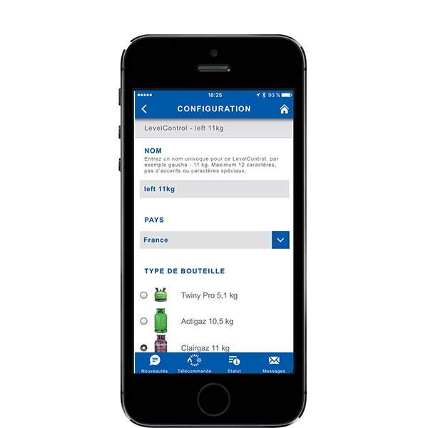 Truma App LevelControl configuration
