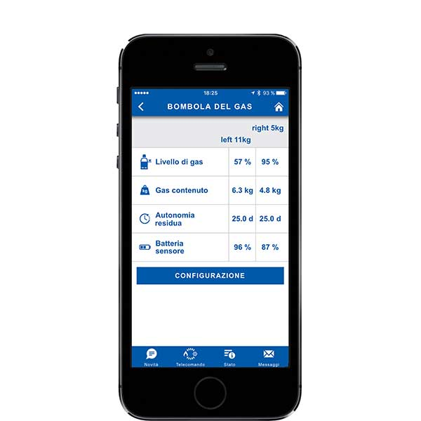 Truma App LevelControl gas cylinders
