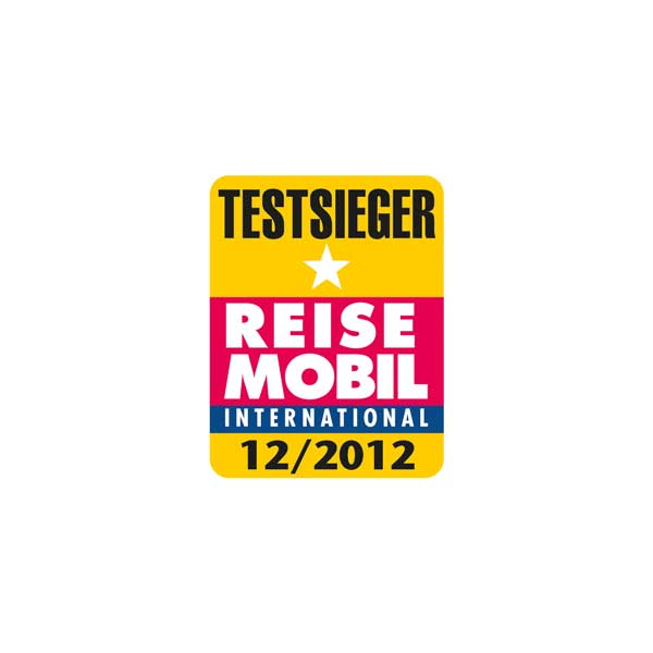 Reisemobil International test winner logo